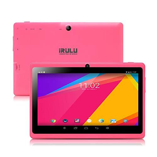 iRULU 7 Zoll Tablet Google Android 8 1 Quad Core 1024x600 Dual Kamera Wi-Fi  Bluetooth 1GB/8GB Play Store NetFilix Skype 3D Spiel Unterstützt GMS