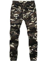 BOMOVO - Chándal para hombre, Pantalones De Chandal al aire libre Militar