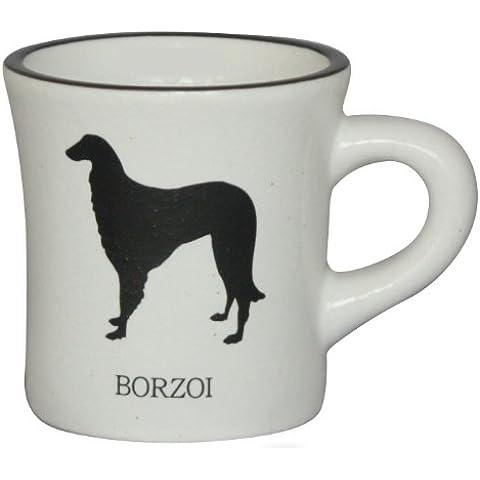 Silhouette in bianco e nero bianco tazza Borzoi mo-mugw-v34 (Giappone import / Il pacchetto e il manuale sono scritte in