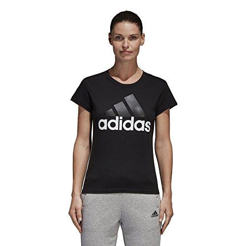 Adidas ESS Li SLI tee Camiseta, Mujer, (Negro/Blanco)