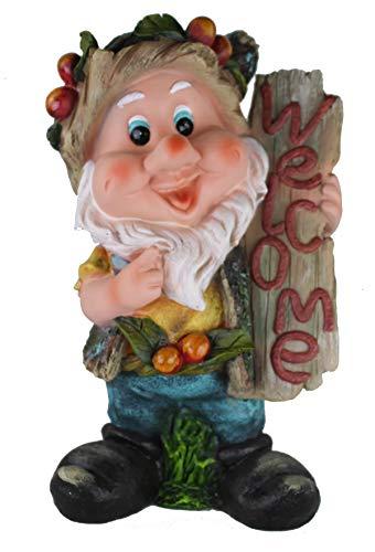 XL Zwerg Design 9407-1 33 cm Hoch Garten Gartenzwerg Figuren Dekoration
