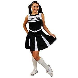 I Love Fancy Dress. ilfd4056l Mujer Disfraz De Animadora Con Squad ImpresióN y falda (Tamaño Grande)
