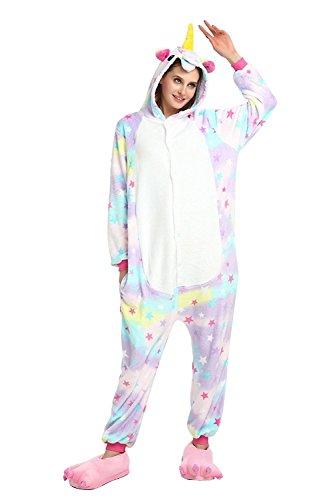 Tier Kostüme Kigurumi Star Einhorn Unicorn Pyjama Schlafanzug Erwachsene Unisex Mann Dame Cosplay Onesie (Katze Corgi Kostüm)