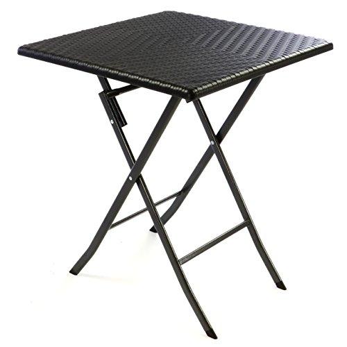 Nexos Tisch In Rattan Optik Balkontisch Gartentisch Klapptisch