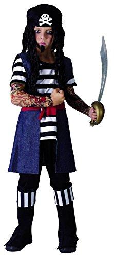 Costume pirata tatuato bambino 4/6 anni (104/116)