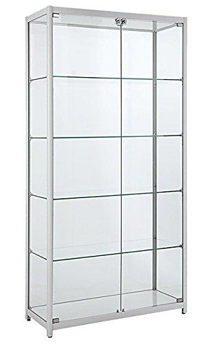 Glasvitrine mit LED Beleuchtung Verkaufsvitrine Vitrinenschrank Vitrine Standvitrine Ladeneinrichtung Sicherheitsglas