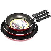 Prestige PR21784 Set of 3-Piece Non-stick Fry Pan, Red, W 37.6 x H 24.6 x L 9.8 cm, Aluminum