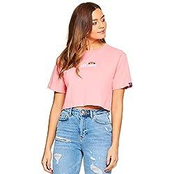 Ellesse Fireball Cropped T-Shirt Camiseta, Mujer, Pink, M