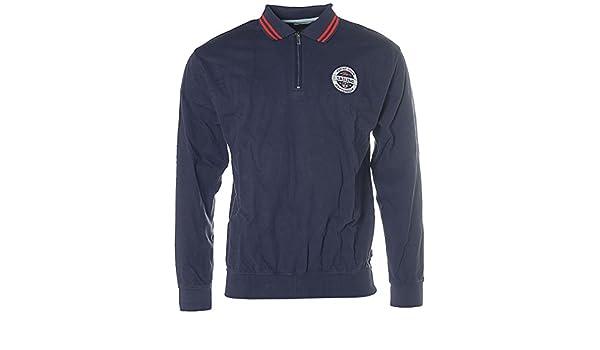 Signum Sweat Sweat-Shirt - Homme col polo Polo Pull Yacht Club la Martinique  - Bleu - Large  Amazon.fr  Vêtements et accessoires 889911404ac9
