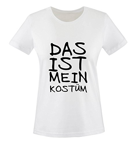 Comedy-Shirts DAS IST MEIN KOSTÜM - FASCHING - Weiss - WOMEN T-SHIRT by DoubleM Gr. XXL