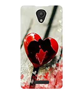 PrintVisa Love Birds In The Heart 3D Hard Polycarbonate Designer Back Case Cover for Redmi 3S Prime