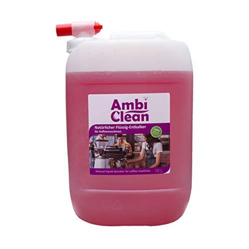 AmbiClean Entkalker 5 Liter Kanister inkl. Ausgießer für viele Haushaltsgeräte wie Kaffeevollautomaten, Kaffeemaschine, Wasserkocher, Waschmaschine, Bügeleisen - Kalklöser mit Farbindikator