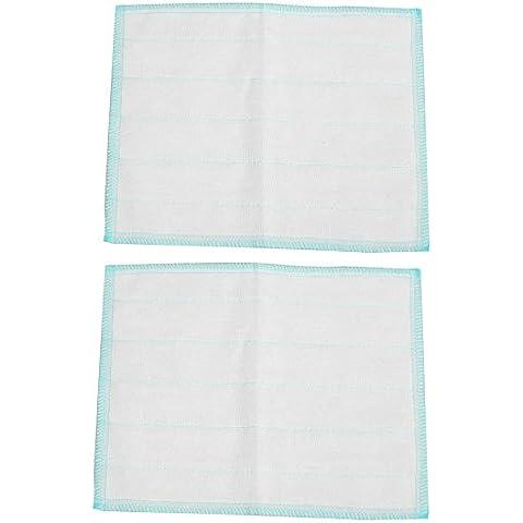 Imprimir rayas plato cuenco de la mano del trapo de limpieza de la toalla del bebé 2pcs Azul Blanco