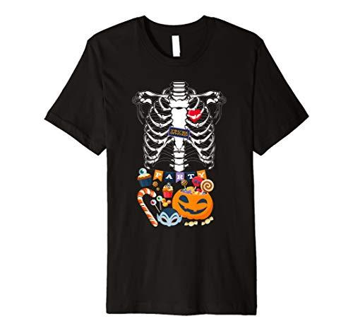 Schwangerschaft Halloween Schwangere Skelett Shirt Ankündigung