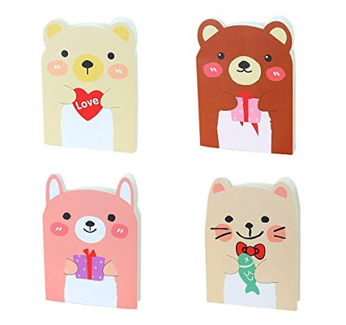 Lindo libreta Animal Nota libro regalo por expreso Panda® (Paquete de 4)