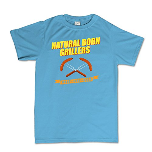 Natural Born Grillers Killers Funny T-shirt Hellblau