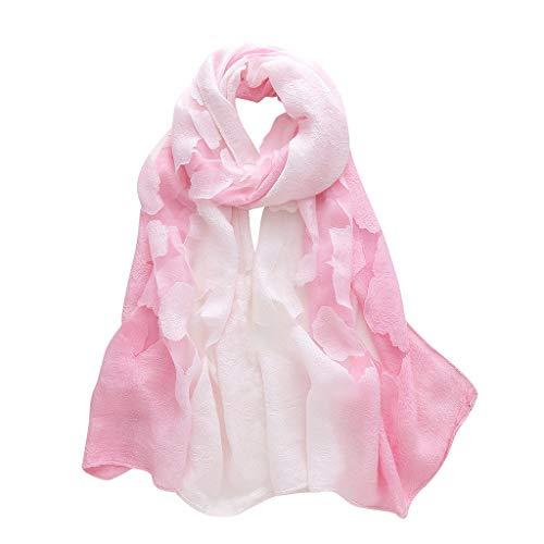 ante Damenmode Bunte Lange Weiche Wrap Schal Blumen Schal Schals(X1-F, 180x70cm) ()