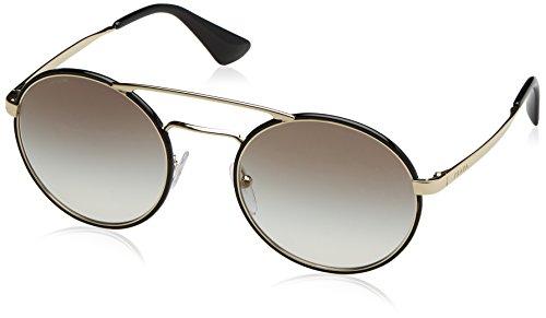 Prada Unisex PR51SS Sonnenbrille, Schwarz (Black Pale Gold 1AB0A7), One size (Herstellergröße: 54)
