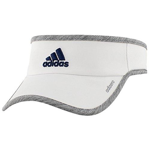 Adidas Herren Adizero Visier, Herren, White/Light Grey Heather/Mystery Blue (Blue Light Visor)