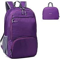 MRPLUM 25L-30L Rucksack Foldable Ultralight Packable Backpack, Unisex Durable Handy Daypack for Travel & Outdoor Sports Durable & Waterproof