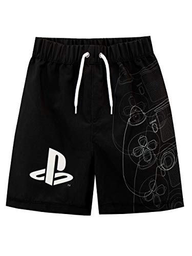 PlayStation Bañador para Niño Negro 7-8 Años