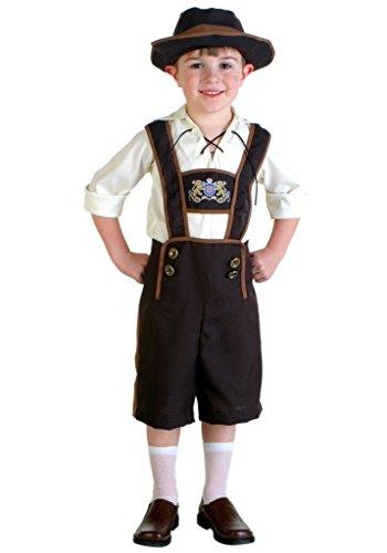 Jungen Oktoberfest Kostüm Trachtenhemd, Hose und Hut zum Oktoberfest und Karneval (Hosenträgern Kostüme Mädchen Mit)