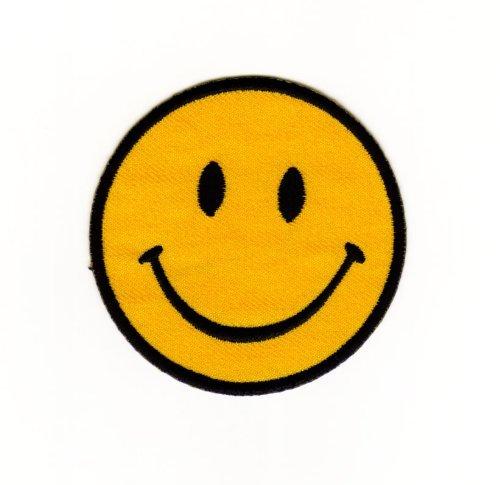 coutures-bugelbild-thermocollantes-iron-on-patchs-motif-smiley-agressif-vetement-pour-enfant