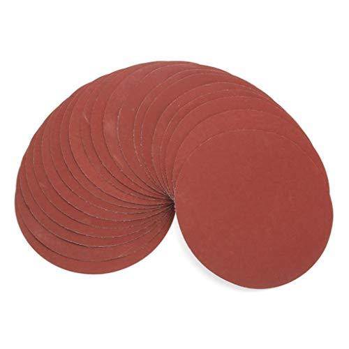 Yongse 20 Stück 1000 Korn 6 Zoll Schleifscheiben Set 150mm Beflockung Schleifpapier Polierscheiben