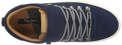 Pepe Jeans London Whistle Low, Baskets Basses Homme Bleu - Blau (Marine 585)