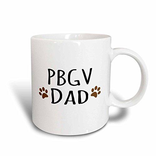 3dRose pbgv Hund Dad Petit Basset Griffon Vendeen Rasse braun Paw Prints Doggy Lover Pet Inhaber 11oz Tasse, Keramik, 10,2x 7,62x 9,52cm