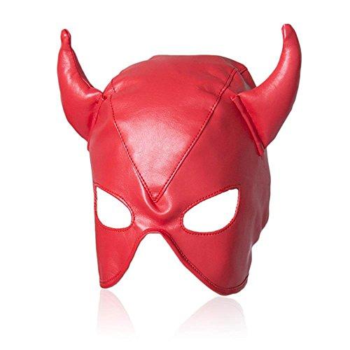 Isolationsmaske Sklaven Maske Maske Masken Maskerade Maske Masquerade Maske Venedig Maske Damen Herren Bondage Leder Kopf Maske gepolstert SM Sex Spielzeug, Cosy-L