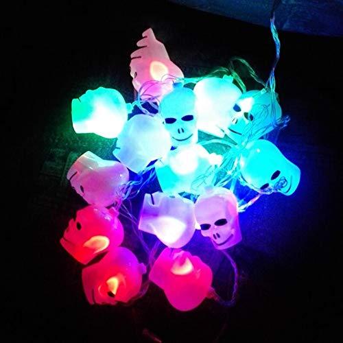 (Halloween Lichter 15 Sch?Del LED Neuheit Lichterketten f¨¹r Indoor Party Dekorationen | Batterie betrieben mit 3,6 m String | Gro?e Spooky Zubeh?r Stromversorgung-Bunte)