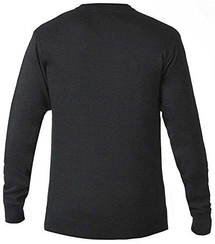 D555 Kingsize Medwin Crew Knitwear Black Black