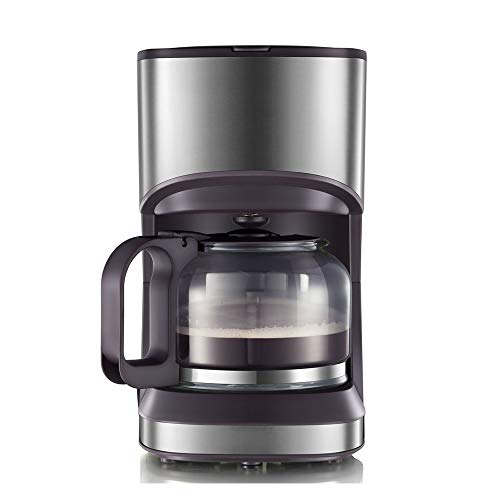 JIAYIBAO Kaffeemaschine LebensmittelqualitäT PP Glas KöRper Automatische Haushalt (Braun 205 * 146...