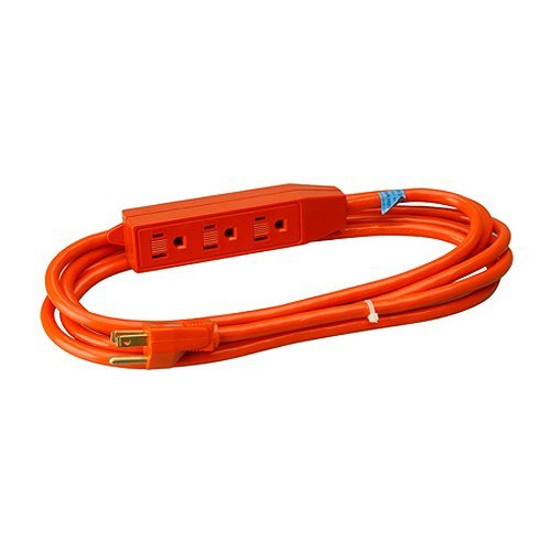 Master Electrician 04003ME 3-Feet Round 3 Outlet Extension Cord, Orange by Master Electrician -