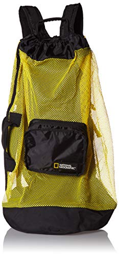 National Geographic Schnorcheln Clamshell Mesh Deluxe 5 Pocket Rucksack, Clam Shell Back Pack 5 Pocket -YL/BK, gelb/schwarz Pocket Shell Pack