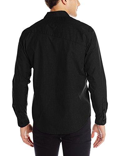 Volcom Herren, Freizeithemd, Classic Fit, Everett Solid Schwarz (Black)