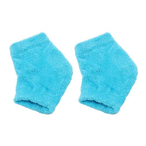 VWH feuchtigkeitsspendende Socken Lotionsgel für trockene rissige Spa-Gel-Socken Feuchthaltemittel Fußbehandlung Pflege Fersensocken (blau) -