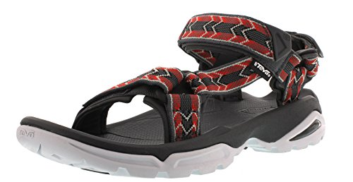 Teva Terra Fi 4 M's, Sandales de sport homme Multicolore - Mehrfarbig (Cross Terra Red 474)
