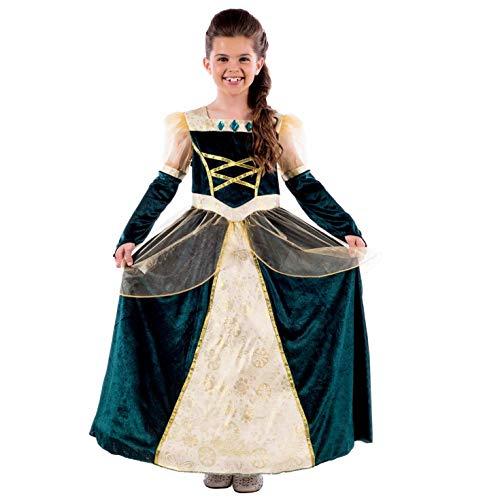 Kostüm Zubehör Elizabeth Queen - Fun Shack FNK4537M Kostüm, Girls, Princess Gown Green, m