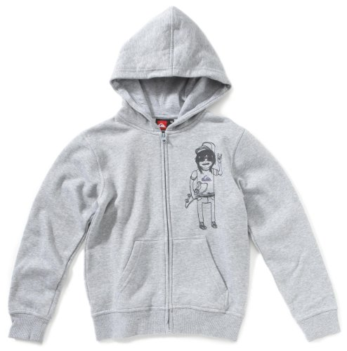 Quiksilver Kinder Hoodie Full Zip, light grey heat (Q), 164, KKBSW932_Q (Quiksilver Full Zip Sweatshirt)