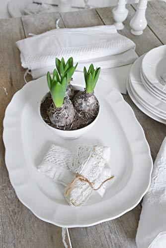 Jeanne d´Arc Living Servierplatte Platte Kuchenplatte oval groß Porzellan Vintage Shabby