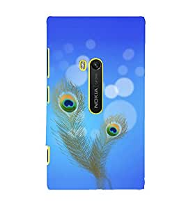 Fiobs Designer Back Case Cover for Nokia Lumia 920 :: Micosoft Lumia 920 (Peacock Feathers Shri Krishna )