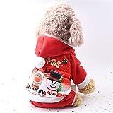 Feidaeu Vêtements de Noël de Chien Costumes d'hiver Mignons Chiot Costume pour Petit Chien Chaud Manteau Hotties Belle