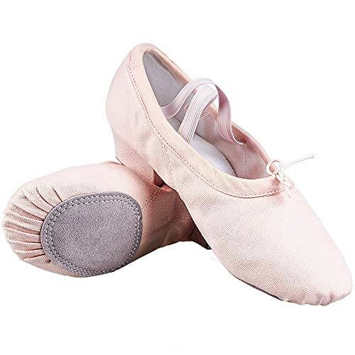 Tanzschuhe Lehrer Niedrigen absätzen Tanzschuhe Kinder Weichen Boden Mädchen Leinwand Ballett Erwachsene Praxis Schuhe Baumwolle Turnschuhe Schuhe (Color : Pink, Size : 40EU)