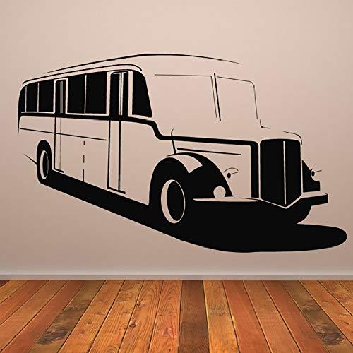 ONETOTOP Antiguo autobús Escolar Autoadhesivo de Pared Ventilador de Coche Etiqueta de la Pared Transporte...