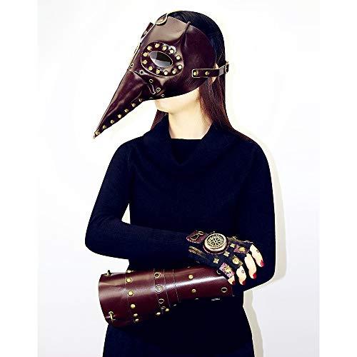 Steampunk Pest Doctor Bird Maske Lange Nase Cosplay Punk Halloween Kostüm Prop Vintage Brown Mechanical Men Es Venezianische Maske