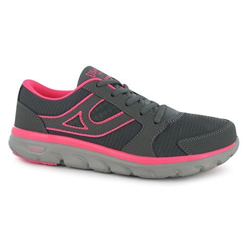 USA Pro Lazulite Femme Chaussures de Sport Chaussures de loisir sport Baskets Multicolore - Charcoal/Pink