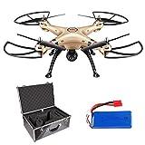 Syma X8HW FPV Drohne mit 720P HD Kamera WiFi Live 2.4GHz 4-Kanal 6-Axis Gyro Quadrocopter mit Höhe Halten,Headless Modus,360°Flip Funktion,4GB Micro-SD Speicherkarte und Zusatzakku