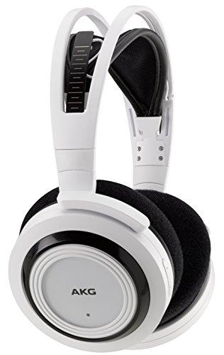AKG K935 Premium Drahtloser Halb Offener Schalenkopfhörer Wireless Stereo-Funkkopfhörer Aufladbar Kompatibel mit Apple iOS und Android Geräten  - Weiß